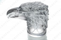 Paperweight in clear and frosted crystal by Lalique pattern Eagle head photo-6