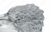 Paperweight in clear and frosted crystal by Lalique pattern Eagle head photo-7