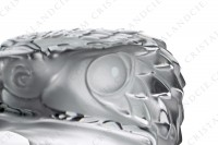 Paperweight in clear and frosted crystal by Lalique pattern Eagle head photo-9