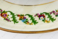 Coffee set in Limoges china by Haviland et Parlon decorated with friezes and bouquets of polychromes flowers photo-11