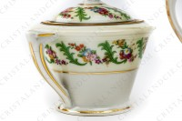 Coffee set in Limoges china by Haviland et Parlon decorated with friezes and bouquets of polychromes flowers photo-6