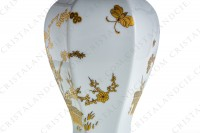 Covered vase in Limoges china with a gold Japanese pattern photo-7