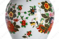 Vase in china of Limoges by La Seynie decorated with polychromes flowers photo-8