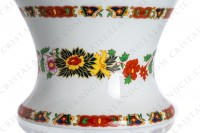 Vase in china of Limoges by La Seynie decorated with polychromes flowers photo-9