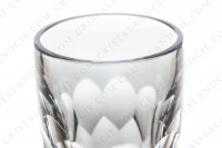 Vase in crystal by Baccarat decorated with cut honeycomb on the belly photo-2