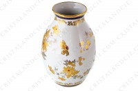 Vase in china of Limoges decorated with gold and silver flowers photo-3