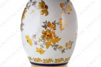 Vase in china of Limoges decorated with gold and silver flowers photo-4
