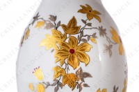 Vase in china of Limoges decorated with gold and silver flowers photo-5
