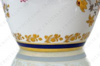 Vase in china of Limoges decorated with gold and silver flowers photo-6
