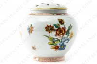 Vase in Limoges china by Haviland pattern Cathay decorated with polychromes flowers photo-3