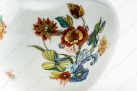 Vase in Limoges china by Haviland pattern Cathay decorated with polychromes flowers photo-5
