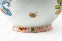 Vase in Limoges china by Haviland pattern Cathay decorated with polychromes flowers photo-6