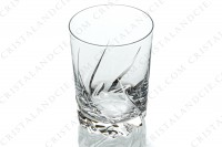 Water glass n°2 in crystal by Daum pattern Bleneau with a cut pattern photo-2