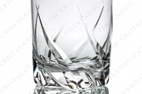 Water glass n°2 in crystal by Daum pattern Bleneau with a cut pattern photo-3