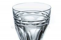 Watergoblet n°2 in crystal by Baccarat pattern Campsegret decorated with flatcut and a frieze photo-2