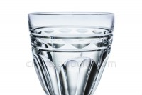 Watergoblet n°2 in crystal by Baccarat pattern Campsegret decorated with flatcut and a frieze photo-3