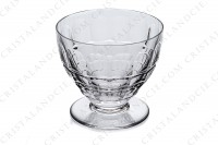 Watergoblet n°2 in crystal by Baccarat pattern Charmes with a cut pattern on the parison photo-2