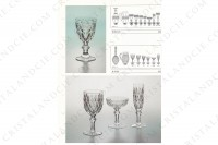 Watergoblet n°2 in crystal by Baccarat pattern Juvisy with an important cur pattern photo-6
