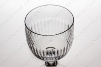 Watergoblet n°2 in crystal by Baccarat pattern Renaissance with a cut pattern on the parison photo-2