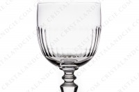 Watergoblet n°2 in crystal by Baccarat pattern Renaissance with a cut pattern on the parison photo-3