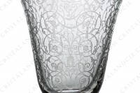 Cordial glass in crystal by Baccarat pattern Michelangelo with an important engraved pattern photo-3
