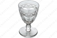 Sherry glass n°5 in crystal by Baccarat pattern Campsegret decorated with flat cuts and a frieze photo-2