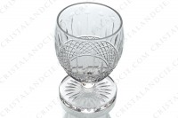 Sherry glass n°5 in crystal by Saint-Louis pattern Florian cut 6812 (Tommy) with an important cut pattern on the gob and a star under the foot photo-2