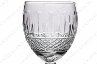 Sherry glass n°5 in crystal by Saint-Louis pattern Florian cut 6812 (Tommy) with an important cut pattern on the gob and a star under the foot photo-3