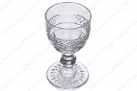 Six Sherry glass n°5 in crystal by Saint-Louis pattern Trianon with the parison is decorated with a Diamond tips frieze, stem with a ring photo-2
