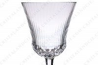 Wine glass n°3 in crystal by Saint-Louis pattern Apollo with an important cut pattern photo-3