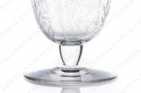 Wine glass n°3 in crystal by Baccarat pattern Argentina with an important engraved pattern photo-4