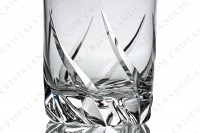 Wine glass n°3 in crystal by Daum pattern Bleneau with a cut pattern photo-3
