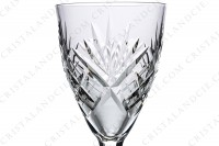 Wine glass n°3 in crystal by Saint-Louis pattern Chantilly with an important cut pattern photo-4