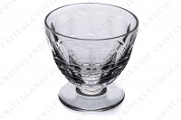 Wine glass n°4 in crystal by Baccarat pattern Charmes with a cut pattern on the gob photo-2