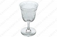 Wine glass n°3 in crystal by Baccarat pattern Lafayette with an important engraved pattern of vegetables arabesques photo-3