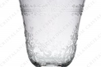 Wine glass n°3 in crystal by Baccarat pattern Lafayette with an important engraved pattern of vegetables arabesques photo-4