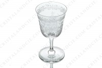 Wine glass n°4 in crystal by Baccarat pattern Lafayette with an important engraved pattern of vegetables arabesques photo-4