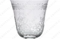 Wine glass n°4 in crystal by Baccarat pattern Lafayette with an important engraved pattern of vegetables arabesques photo-5