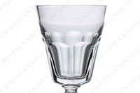 Wine glass n°4 in crystal by Baccarat pattern Missouri, decorated with flat cuts photo-3