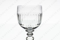 Wine glass n°4 in crystal by Baccarat pattern Renaissance with a cut pattern on the parison photo-3