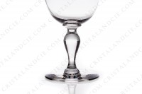 Wine glass n°3 in crystal by Baccarat pattern Romane with a baluster stem photo-3