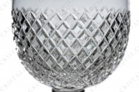 Wine glass n°4 in crystal by Saint-Louis pattern Tacite with an important cut pattern photo-3