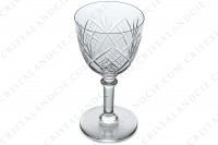 Wine glass n°4 in crystal by Saint-Louis with a cut pattern photo-3