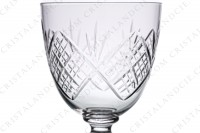 Wine glass n°4 in crystal by Saint-Louis with a cut pattern photo-4