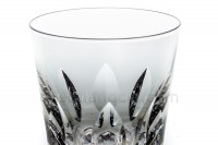 Whisky glass tumbler Old fashion in crystal by Saint-Louis pattern Jersey with a cut pattern photo-2