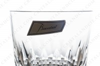 Whisky glass Old fashion large ( tumbler n°1) in crystal by Baccarat pattern Piccadilly, with a cut pattern photo-3