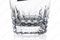 Whisky glass Old fashion large ( tumbler n°1) in crystal by Baccarat pattern Piccadilly, with a cut pattern photo-4